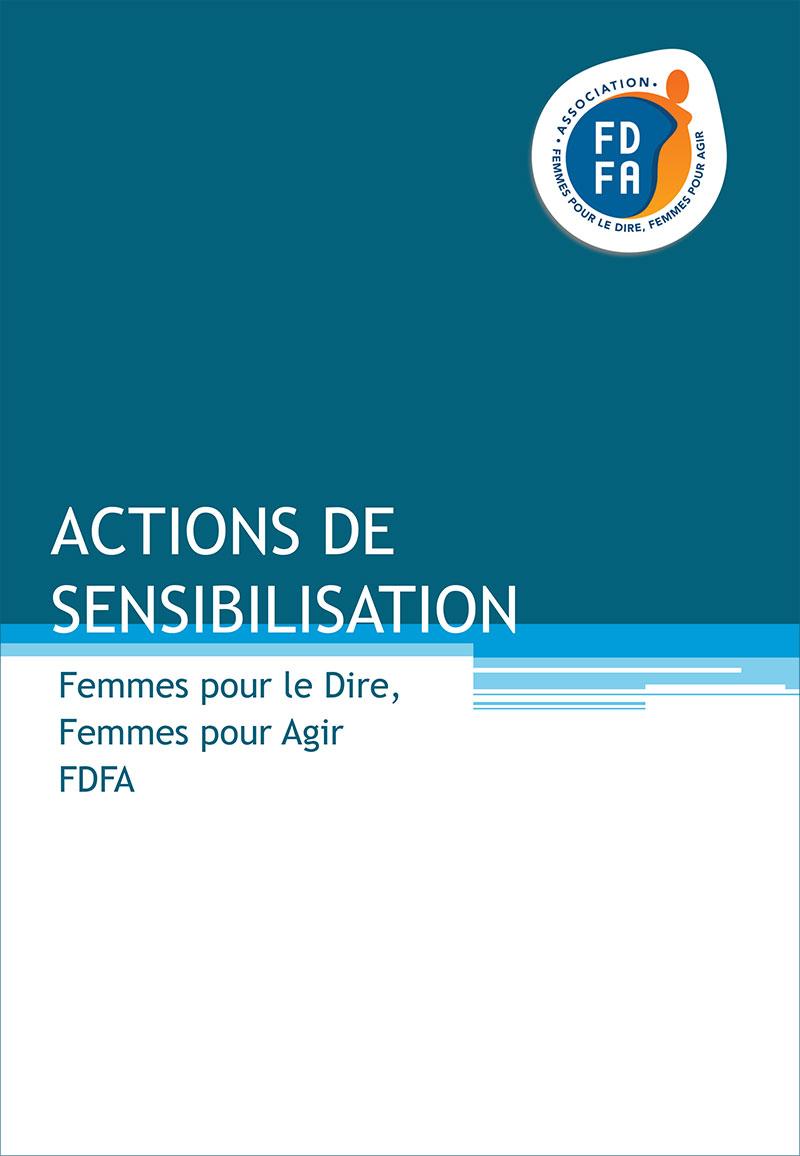 Brochure Actions de sensibilisation de Femmes pour le Dire, Femmes pour Agir
