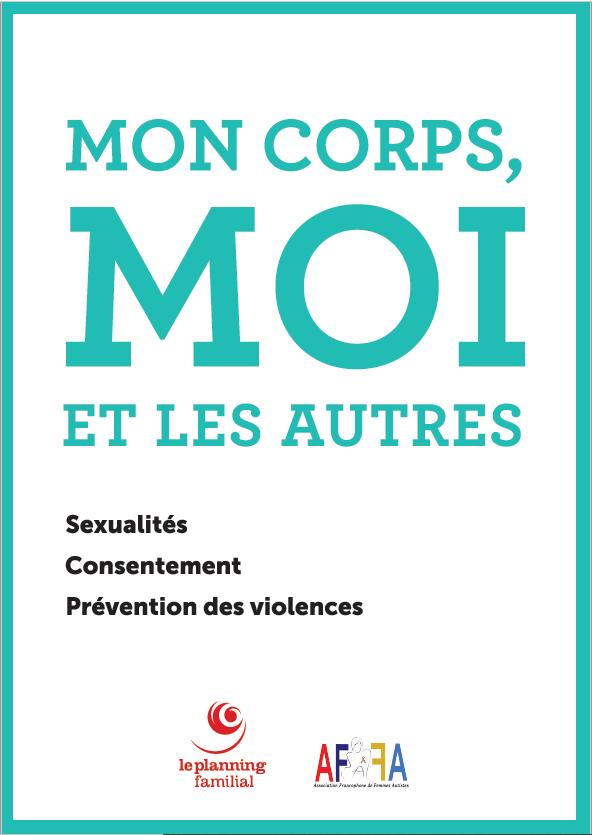 """Visuel de la brochure du Planning familail et de l'AFFA """"Mon corps, Moi et les autres"""""""