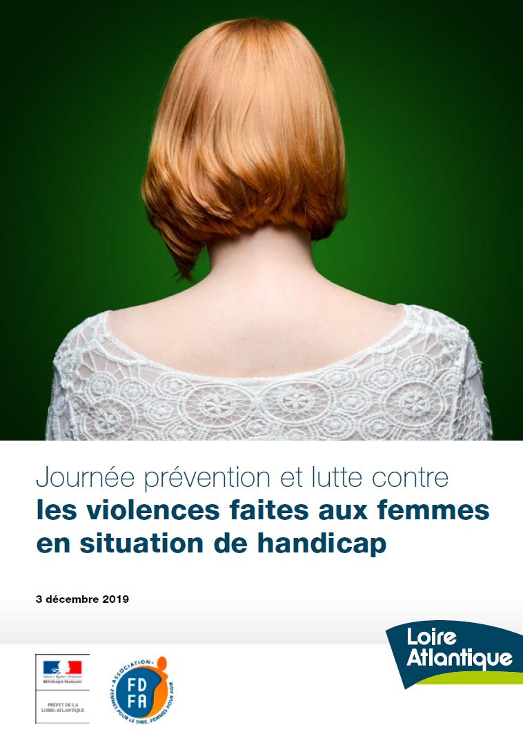 Visuel de l'affiche de la Journée de prévention et lutte contre les violences faites aux femmes en situation de handicap, organisée par le département de la Loire-Atlantique