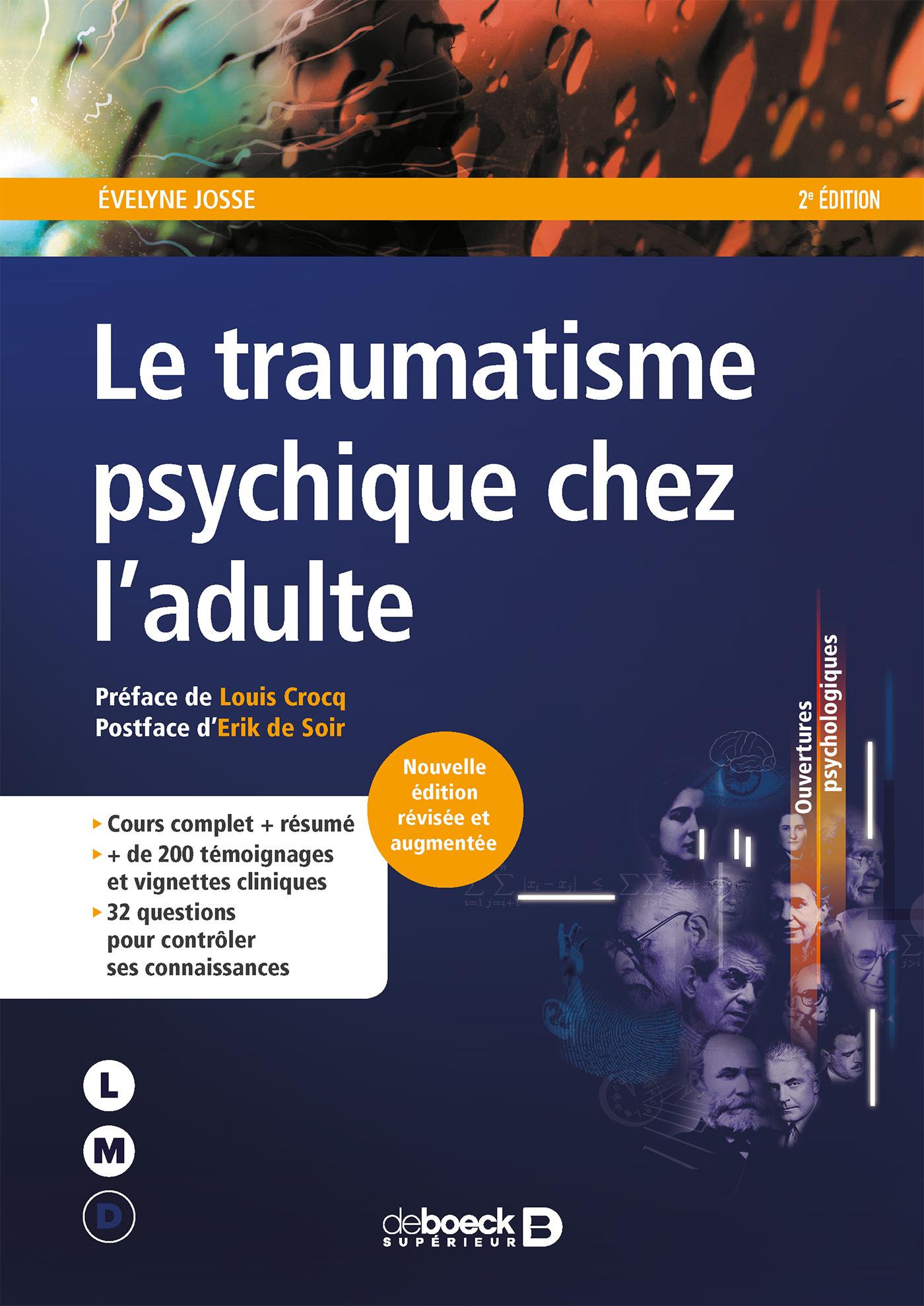 Visuel - Le traumatisme psychique chez l'adulte d'Evelyne Josse