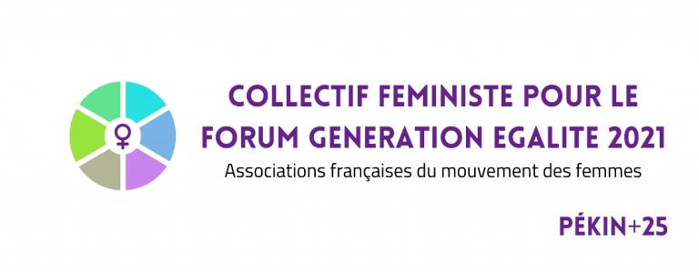 Logo Collectif Féministe pour le Forum Génération Égalité 2021
